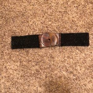 Accessories - Vintage stretch beaded belt black